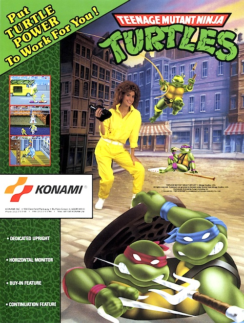 Teenage Mutant Ninja Turtles — 1989 | arcade game flyer graphic