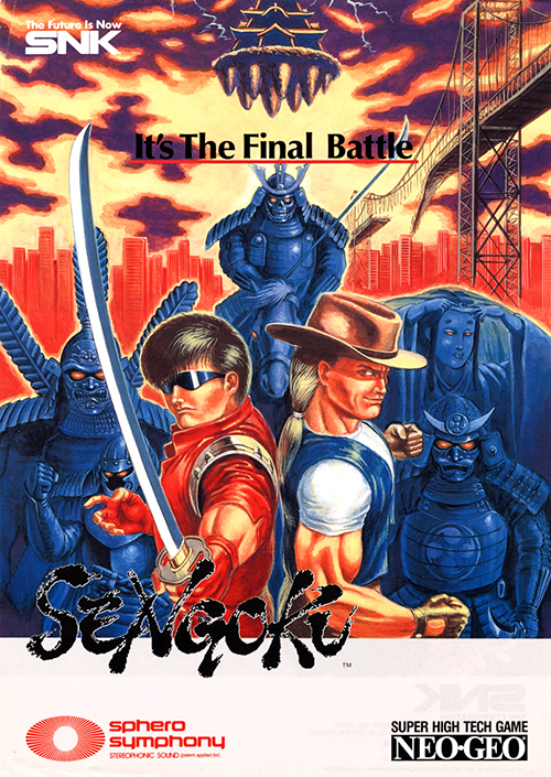Sengoku — 1991 at Barcade® | arcade game flyer graphic