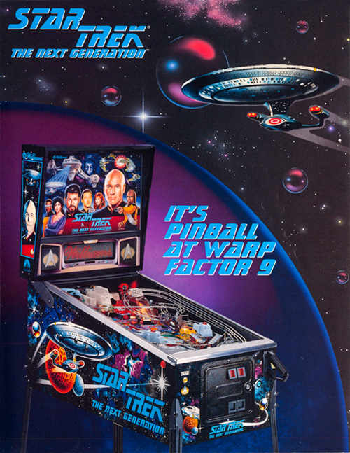 Star Trek: The Next Generation (pinball) — 1993 at Barcade® | arcade game flyer graphic