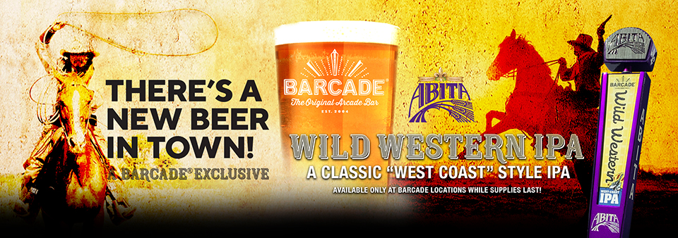 Barcade® Beer Exclusive - Abita Wild Western IPA - Available only at Barcade locations while supplies last