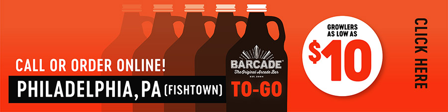 Barcade® To-Go — PHILADELPHIA, PA Fishtown - Call or order online graphic