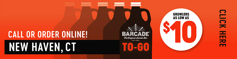 Barcade® To-Go — NEW HAVEN, CT - Call or order online graphic