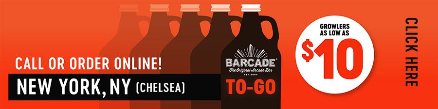 Barcade® To-Go — NEW YORK, NY Chelsea - Call or order online graphic