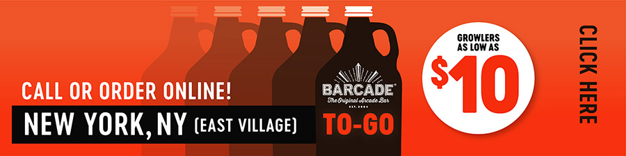 Barcade® To-Go — NEW YORK, NY East Village - Call or order online graphic