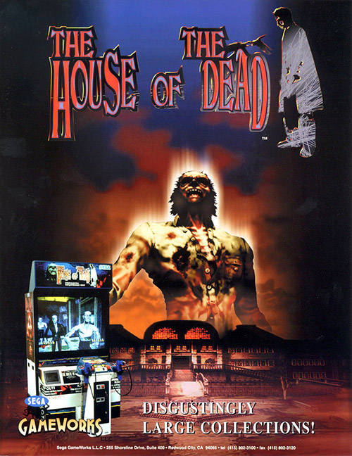 House of the Dead — 1997 at Barcade® | arcade game flyer graphic