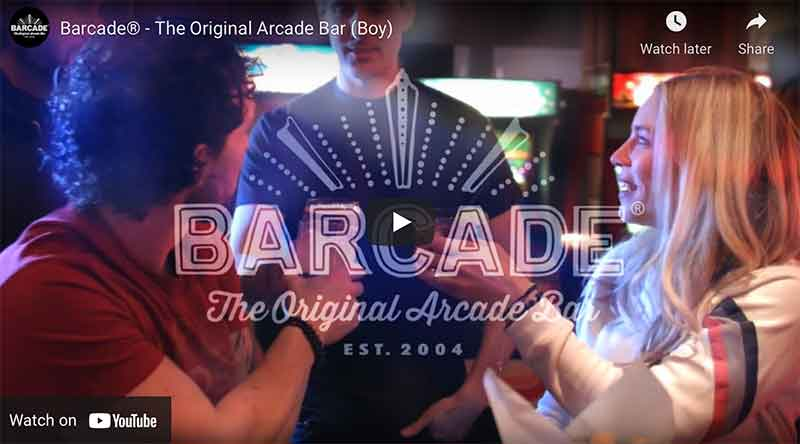 Barcade® YouTube commercial Image link