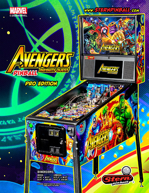 Avengers Infinity Quest (pinball) — 2020 at Barcade®